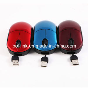 Mini Retractable Cable Optical Mouse