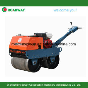 Walk Behind Double Drums Vibratory Road Roller pictures & photos