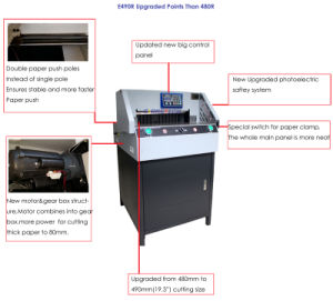 490mm Paper Cutting Machine (E490R) , Ce Cutting Machine pictures & photos
