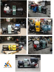Engine Powered Wire Rope Winch Hoist pictures & photos