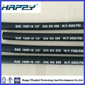 SAE100 R16 Wire Braided Hydraulic Hose pictures & photos