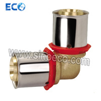 Brass Elbow Double Coupling for Pex Al Pex Pipe pictures & photos