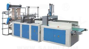 Double-Layer 4-Lines Cold-Cutting Full Automatic T-Shirt Bag Making Machine pictures & photos