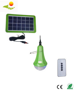Portable 6W Solar Home Light System USB Output for Camping / Hiking / Home Use Lamps Solar Power Panel System Kit pictures & photos