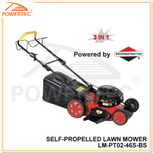 Powertec 3 in 1/B&S 500 Series Self-Propelled Lawn Mower (LM-PT02-46S-BS) pictures & photos
