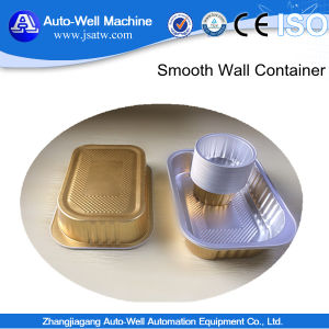 Disposable Hot Sell High Quality Smooth Wall Airline Rectangular Aluminum Foil Container with Lid pictures & photos