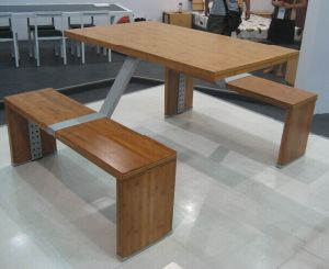 4 Seater Bamboo Restaurant Table and Chair pictures & photos