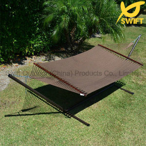 Brown Woven Hammock with Wood Rod