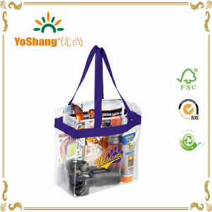 Customized PVC Handle Bags for Travelling/Fashionable Clear Plastic PVC Bag pictures & photos