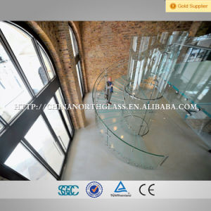 5mm+1.41mmpvb+5mm Curved Laminated Glass for Stairs pictures & photos