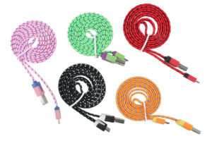 Nylon Fibre Extended Data Cable for Samsung S4 Charging Cable pictures & photos