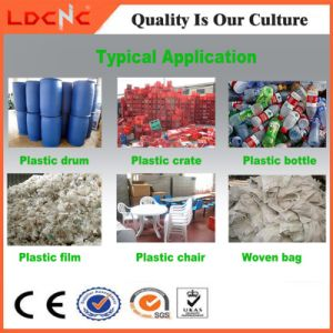 Double Shaft Used Waste Plastic Film Bottle Drum Pipe Bag Recycling Shredder pictures & photos