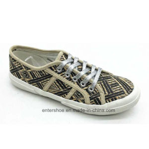 Wholesale Rubber Footwear Weaved Cloth Shoes for Women (ET-OW170475W)