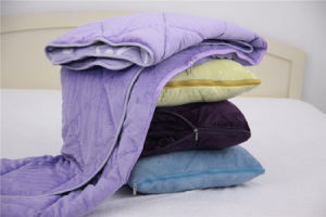 Polyester Microfiber Fleece Quilting Magic Blanket pictures & photos