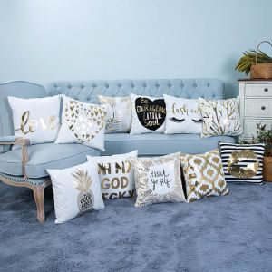 Foil/Gold Print Decorative Cushion/Pillow (MX-02) pictures & photos