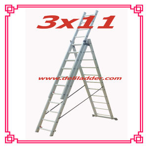 3 Section Extension Ladder 3x11 pictures & photos