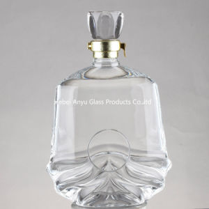 Wholesale Glass Brandy Bottle, X. O Glass Bottle, Whiskey Wine Bottle pictures & photos