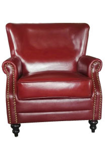 Red Color Leather Club Chair Used in Club Furniture (A888) pictures & photos