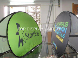 Pop up out a Frame Advertising Oval Sports Outdoor Banner Stand Promotional Golf Day Displays Banner pictures & photos
