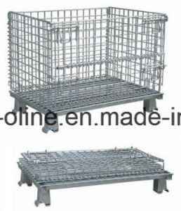 Wire Basket/Stackable Folded Wire Mesh Container pictures & photos