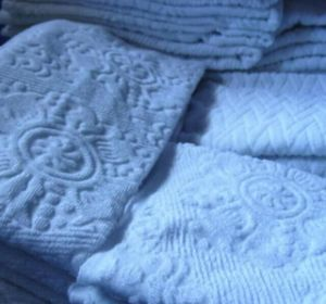 Muslims Worship White Jacquard Towel pictures & photos