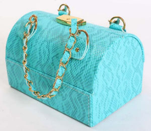 Sky Blue Arched Portable Vanity Toiletry Bags Case pictures & photos