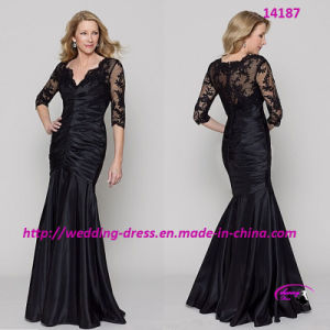 New Arrival Mother of Bride Dress with 3/4 Length Sleeves pictures & photos