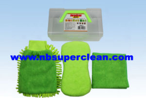 Microfiber Wash Cloth Car Wash Sponge Wash Mitt Car Wash Set (CN1562) pictures & photos