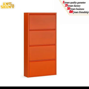 Modern Stylish Steel Lockable Shoe Cabinet / Corner Metal Shoe Cabinet pictures & photos