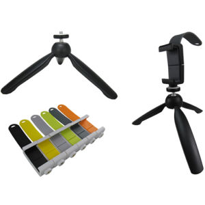 Portable Tripod Ball Head Compact Travel with Mobile Phone Holder pictures & photos