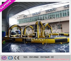 Lilytoys Hot Selling Yellow Inflatable Racing Track Game for Competition (J-SG-047) pictures & photos