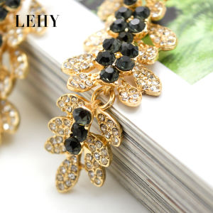 Luxury Crystal Gray Rhinestone Flower Long Wedding Drop Earrings pictures & photos