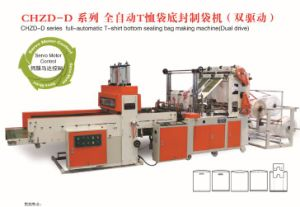 High Speed Full Automatic 4-Line T-Shirt Bag Sealing & Cutting Machine (bag making machine) pictures & photos