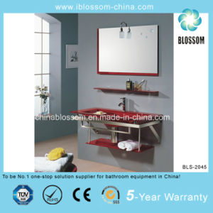 China Stainless Steel Frame Bathroom Tempered Glass Wash Basin ...
