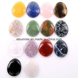 Semi Precious Stone Gemstone Massage Worry Thumb Stone (ESB02006) pictures & photos