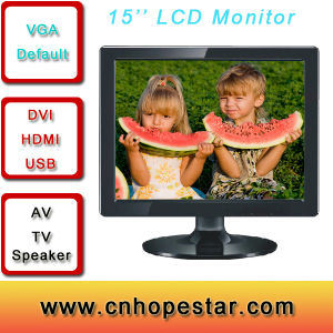 15inch TFT LCD Touch Monitor/LCD Monitor of Desktop pictures & photos