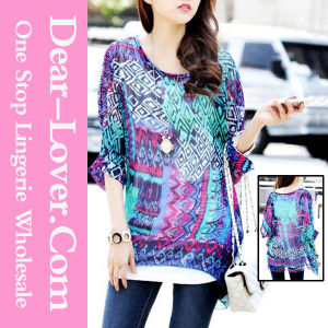 Newest Fashion Leisure Lady Shirts pictures & photos