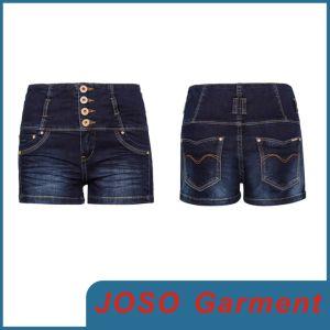 Girls Denim Mini Buttons Shorts (JC6028) pictures & photos