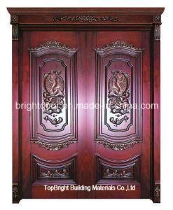Old Antique Main Double Interior Door Wooden Door for Room Price pictures & photos