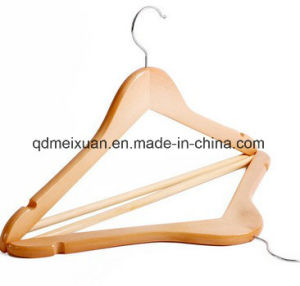 Real Wood Hangers Level Log Color Dress Wooden Hanger Chest Hang The Garment (M-X3544) pictures & photos