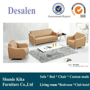 Brown Color Leather Office Sofa Furniture (8536) pictures & photos