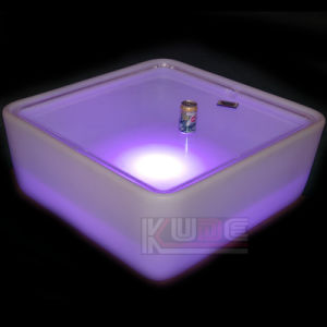 LED Center Table Modern Square Coffee Table Platner Side Table pictures & photos