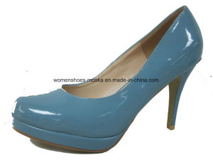 Six Colors Wholesale Women Fashion High Heel Lady Dress Shoes for Party pictures & photos