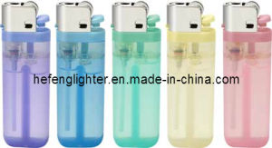 Disposable Flint Gas Lighter 65mm Transparent in 5 Colors