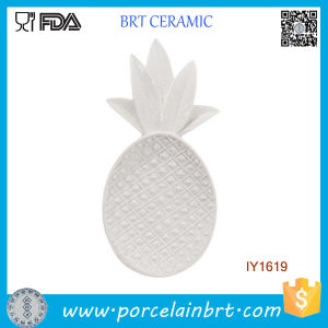 Hot Fancy White Ceramic Pineapple Food Tray pictures & photos