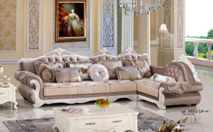 Coffee Color French Sofa, Royal Sofa, Fabric Sofa, Europe Sofa (A865) pictures & photos