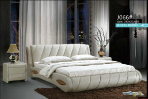 2016 New Design Bed, Leather Bed, Modern Bedroom Furniture (J066) pictures & photos