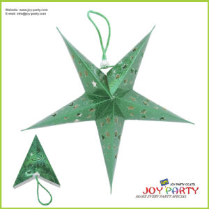 Christmas Green Star Paper Lantern pictures & photos