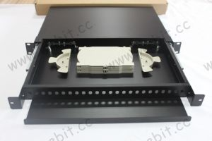 24 Ports 1u 19′′ Blank Fiber Patch Panel with Different Adapters pictures & photos