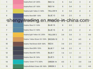 Factory Sulphur Black/Blue/Yellow/Red/Brown/Green Dyes with Best Quality